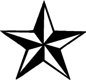 Nautical Star, Vinyl decal sticker