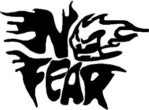 No fear, Skull, Vinyl decal sticker