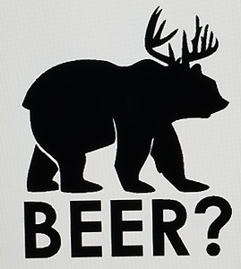 Beer Bear Decal