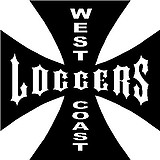 West coast loggers, iron cross, Vinyl decal sticker