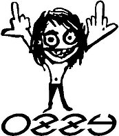 Ozzy Osbourne, Vinyl decal sticker