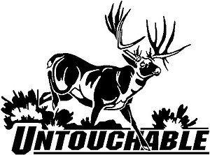 Untouchable, Buck deer, Vinyl decal sticker