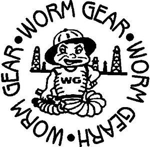 Rough neck, worm gear, Vinyl decal sticker