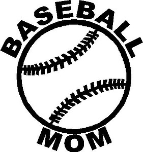 Baseball Mom, Vinyl decal sticker