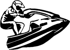 Jet skier, Vinyl decal sticker