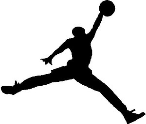 Jordan Famous Jump, Basketball, Vinyl cut decal
