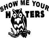 Show me your hooters, Owl, Vinyl decal sticker