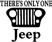 There's Only One Jeep, Vinyl cut decal