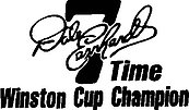 Dale Earnhardt, 7th Time Winston Cup Champion, Vinyl cut decal