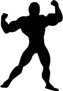 Guy silhoutte, Vinyl decal sticker
