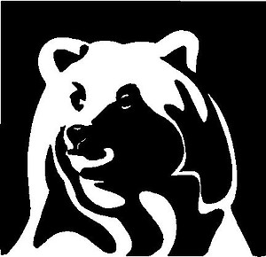 Bear, Vinyl cut decal