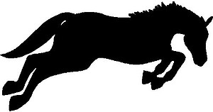 A Horse Jumping, Vinyl cut decal