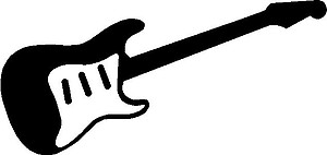 Elecric Guitar, Vinyl cut decal