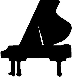 Piano, Vinyl cut decal