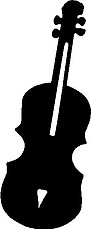 Violin, Vinyl cut decal