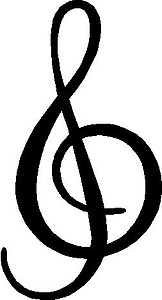 Music Note, Vinyl cut decal