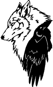 Wolf and a Crow, Vinyl cut decal