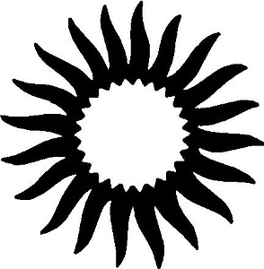Sun, Vinyl cut decal