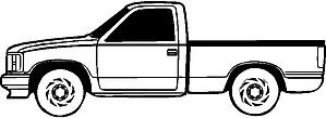 Chevy Truck, Vinyl cut decal