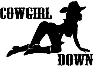 Cowgirl Down, Vinyl cut decal