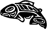 Tribal, Native, Salmon, Vinyl cut decal