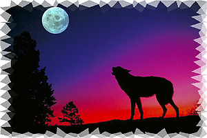 Wolf RV Mural for the back of your RV by the Square Foot