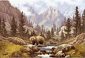 Bear Scene RV Mural for the back of your RV by the Square Foot NOT Laminated