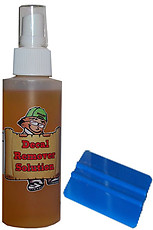 Decal Guy Remover Solution & Squeegee Set