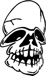 Skull, Vinyl cut decal
