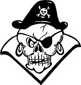 Pirate Skull, Vinyl cut decal