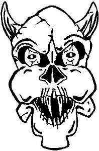 Devil Skull, Vinyl cut decal