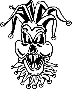 Joker, Skull, Vinyl cut decal