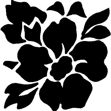 Flower, Vinyl cut decal