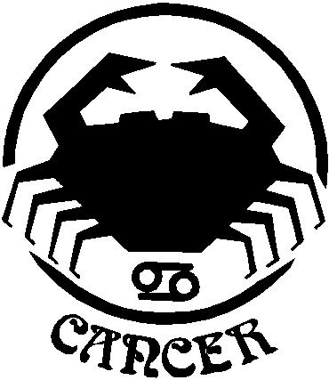 Cancer, Vinyl cut decal