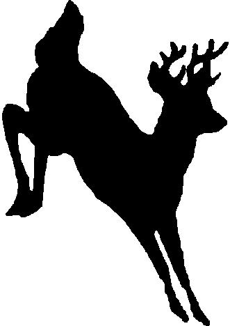 Deer, Buck, Jumping, Vinyl decal sticker