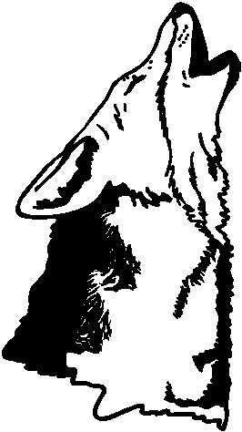 Wolf Howling, Vinyl cut decal