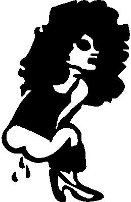 Girl peeing, Vinyl decal Sticker