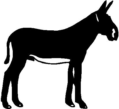 Donkey, Vinyl cut decal