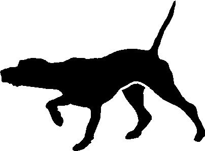 Lab Pointer, Hunting dog, Vinyl cut decal