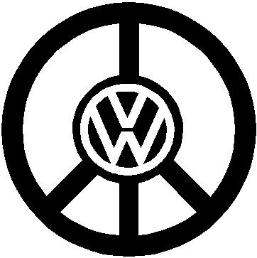 Peace sign with a Volkswagen Logo, Vinyl cut decal
