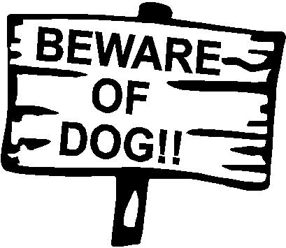 Beware of dog, Vinyl decal sticker