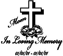 Custom In Loving Memory Of - Car Decal