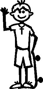 A Boy, 4.2 inch Tall, Religious Stick people, vinyl decal sticker