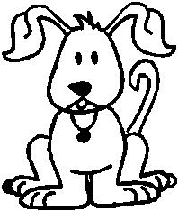 Dog, 3.2 inch Tall, stick people, vinyl decal sticker