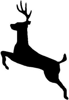 Deer jumping, Buck, Vinyl decal sticker