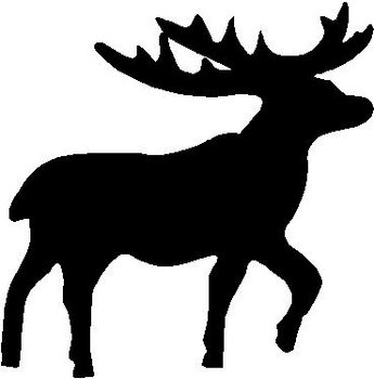 Deer, Vinyl cut decal