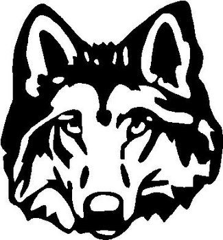 Wolf Head, Vinyl cut decal