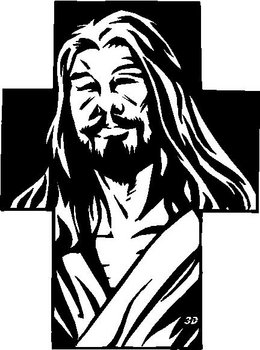 Jesus in a Cross, Vinyl cut decal