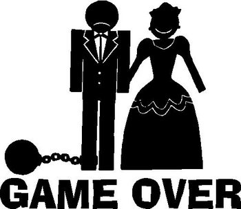 Game Over Ball And Chain Vinyl Cut Decal