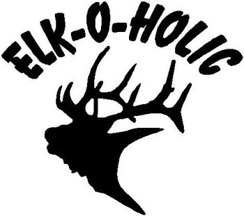 Elk O Holic With Elk Head Vinyl Cut Decal